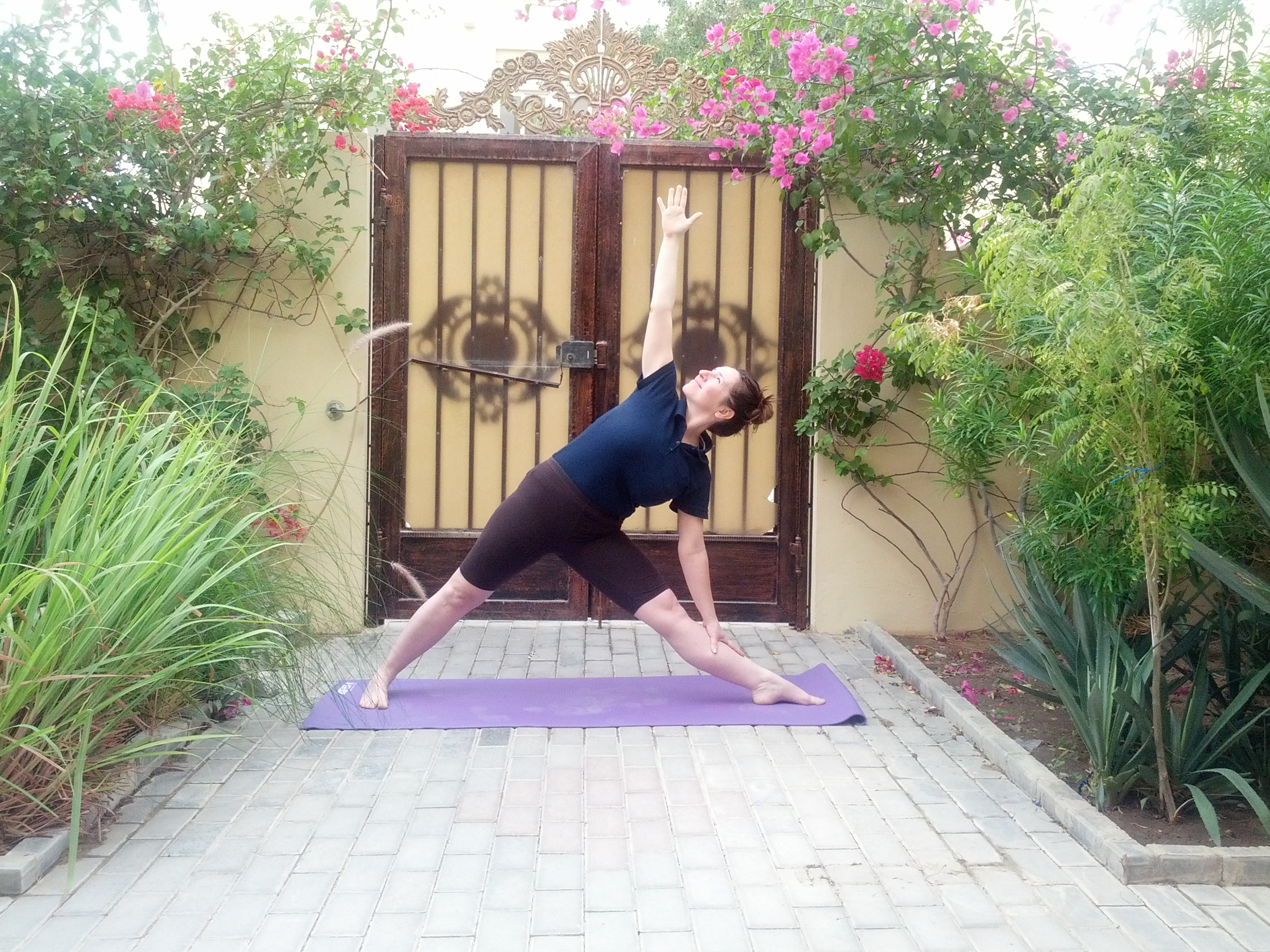 Utthita Trikonasana, the triangle pose