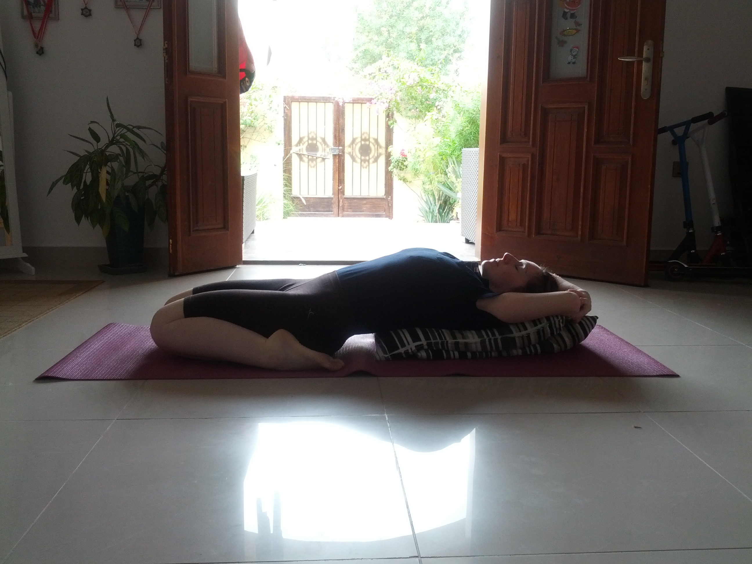 Supta Virasana - the reclining hero pose