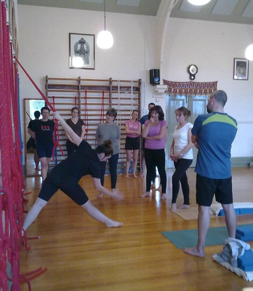 Teaching at the Manchester and District Institute of Iyengar yoga