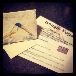 Iyengar yoga gift vouchers for www.yoga-in-manchester.co.uk